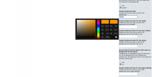 Set the background color for your osCommerce store using colorpicker