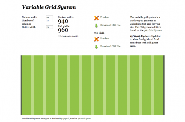 A very useful css generator for the 960 grid system and osCommerce