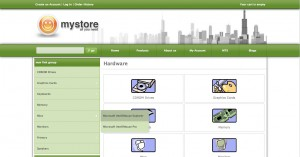 "Contents of category ""hardware"" are top level menu items of the link box"