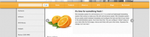 The front page banner in default mode. You have more that 50 configuration options available