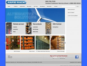 Rapidrack.com offers storage systems, selves and several specialized solutions