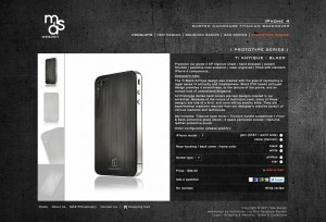 Mas design product information page