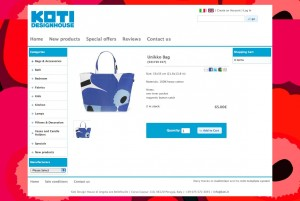 Koti Design House: Product information page