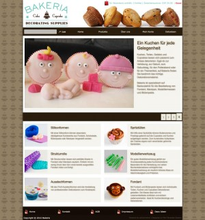 Bakeria: The front page, using just the 2 banner modules