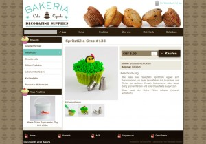 Bakeria: A great looking and clean product information page