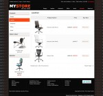 The product listing page